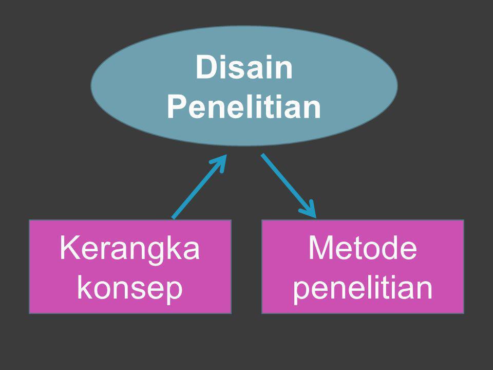 Disain Penelitian Kerangka konsep Metode penelitian