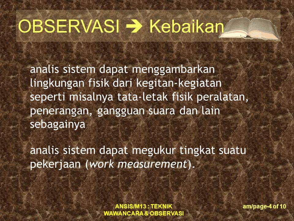 ANSIS/M13 : TEKNIK WAWANCARA & OBSERVASI am/page-25 of 10