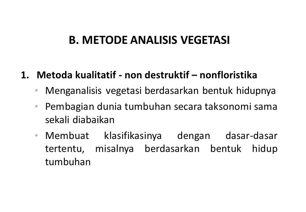B.METODE ANALISIS VEGETASI 1.
