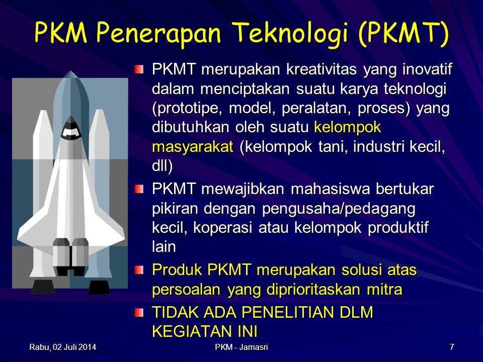 PKM Penelitian (PKMP) PKMP merupakan karya kreatif untuk menjawab permasalahan, pengembangan dan teori yang dilaksanakan dengan melakukan penelitian P