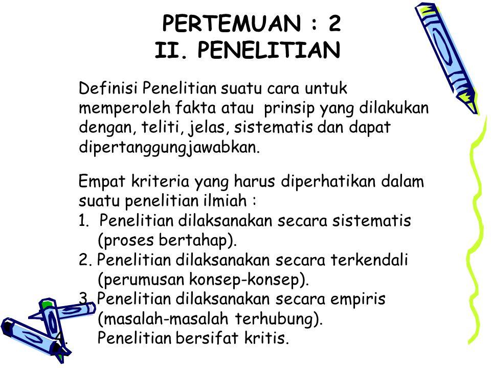 PERTEMUAN : 2 II.
