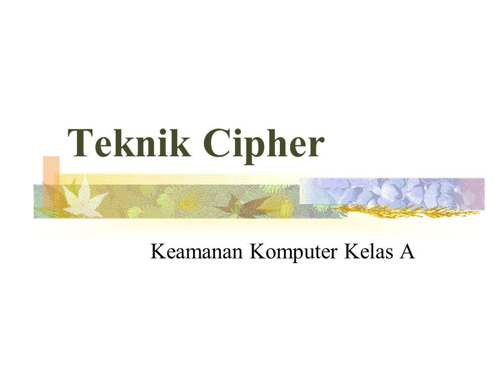Teknik Cipher Keamanan Komputer Kelas A