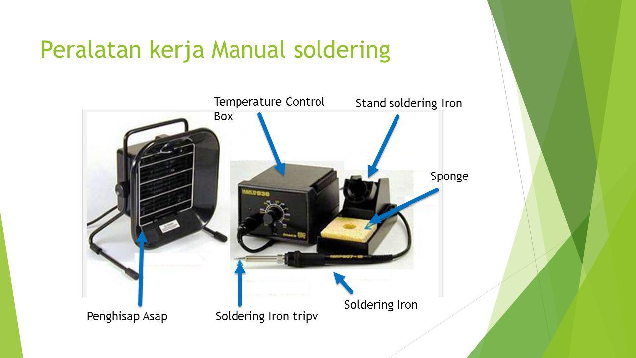 Peralatan kerja Manual soldering Soldering Iron tripv Soldering Iron Sponge Stand soldering Iron Temperature Control Box Penghisap Asap
