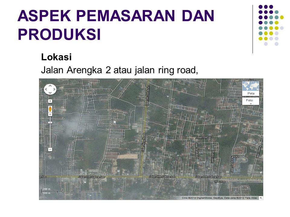 ASPEK PEMASARAN DAN PRODUKSI Lokasi Jalan Arengka 2 atau jalan ring road,