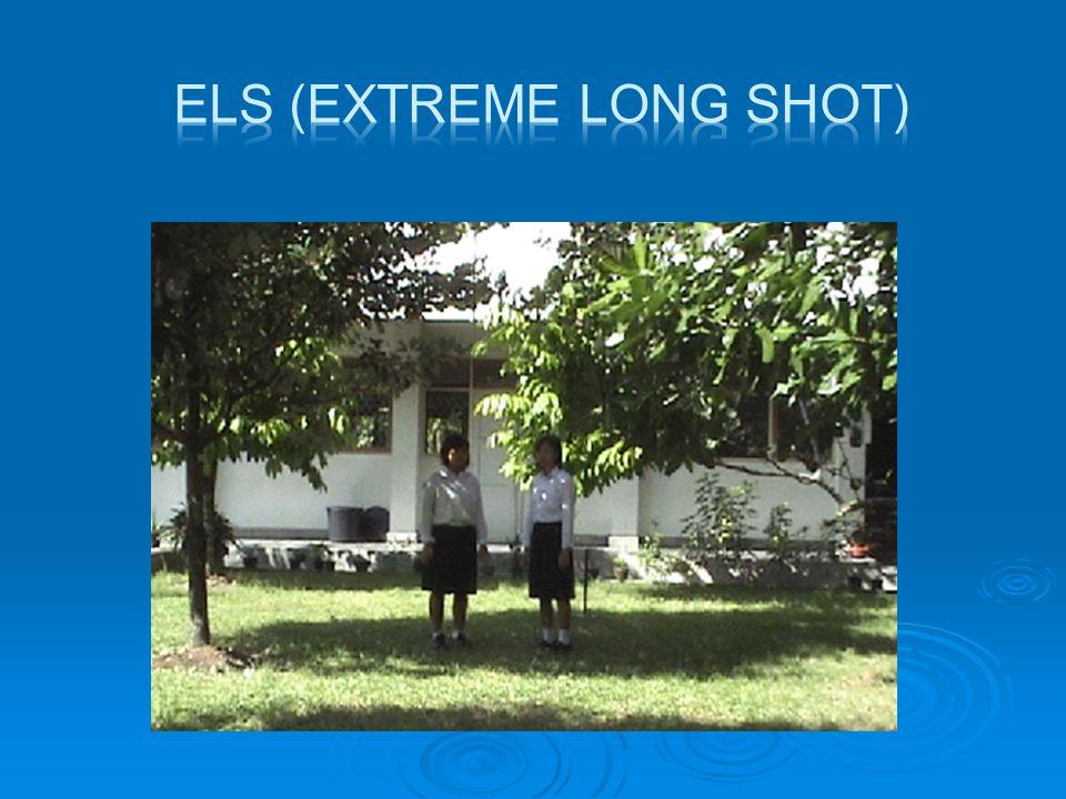  LS (Long Shot)  Shot sangat jauh, menyajikan bidang pandangan yanglebih dekat dibandingkan dengan ELS, obyek masih didominasi oleh latar belakang yang lebih luas.