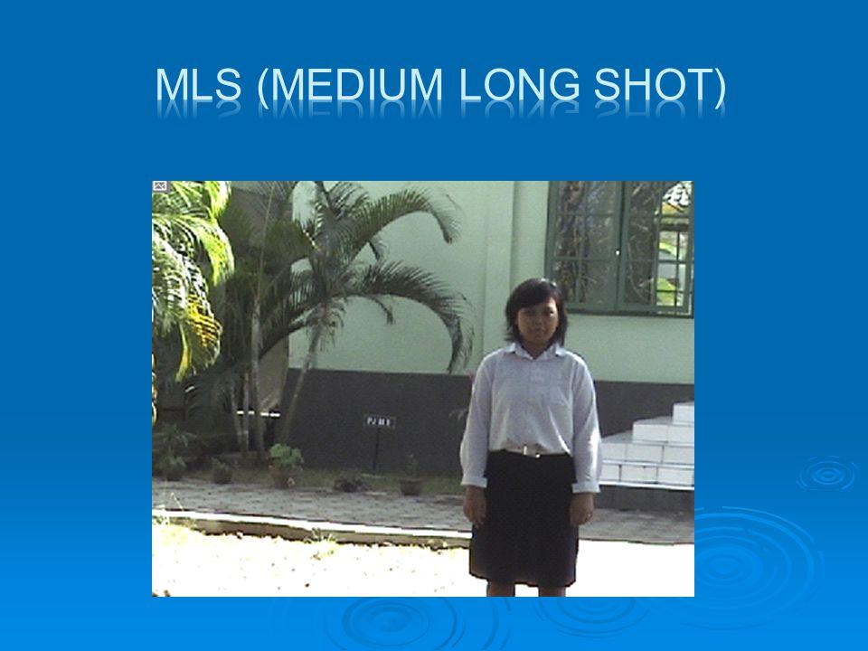  MS (Medium Shot)  Di sisni obyek menjadi lebih besar dan dominan, obyek manusia ditampakkan dari atas pingang sampai di atas kepala.