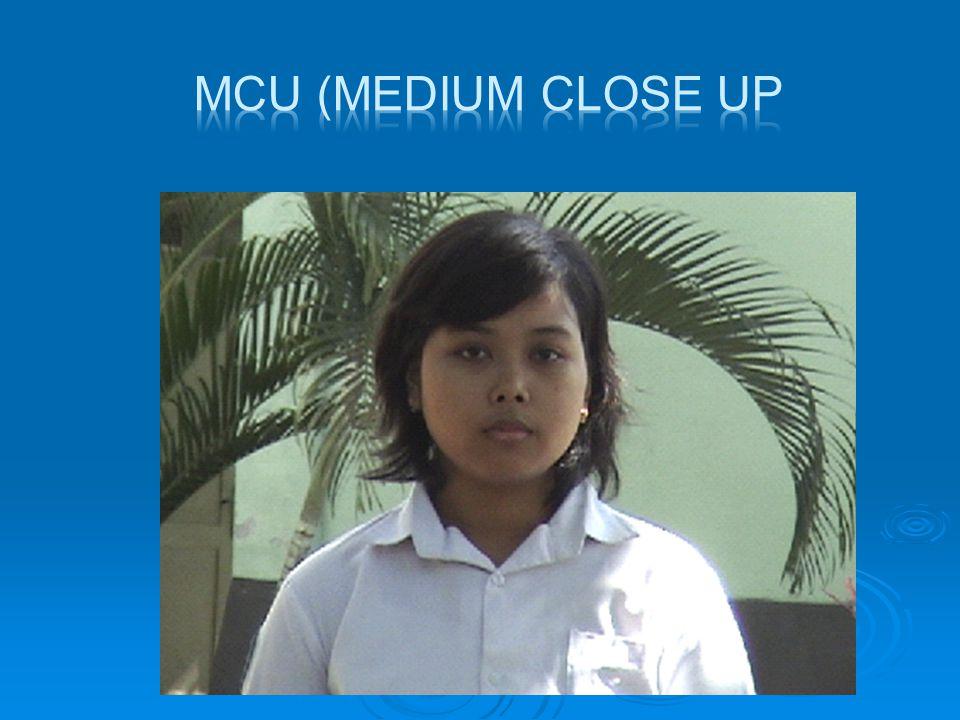  CU (Close UP)  Shot dekat, obyek menjadi titik perhatian utama di dalam shot ini, latar belakng nampak sedikit sekali.