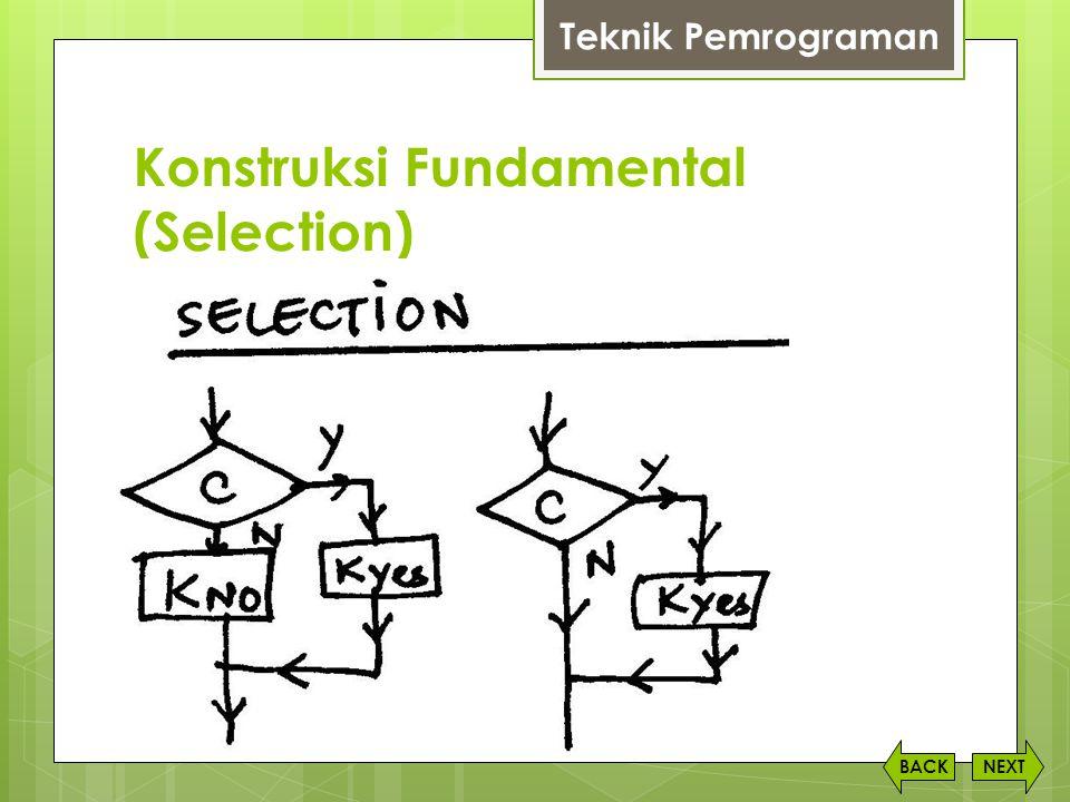 Konstruksi Fundamental (Selection) NEXTBACK Teknik Pemrograman