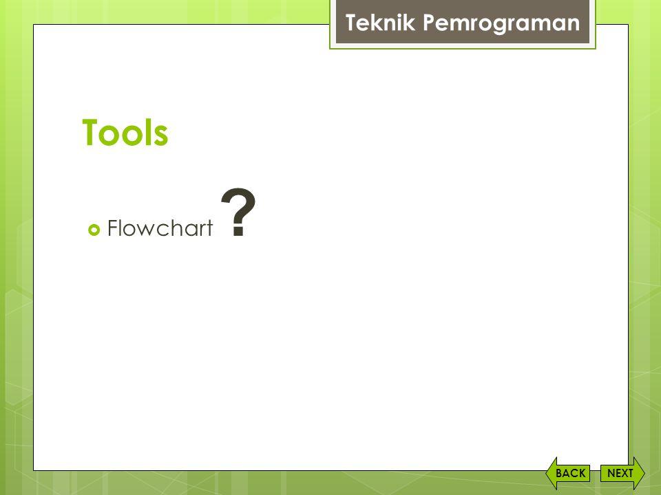 Tools  Flowchart ? NEXTBACK Teknik Pemrograman