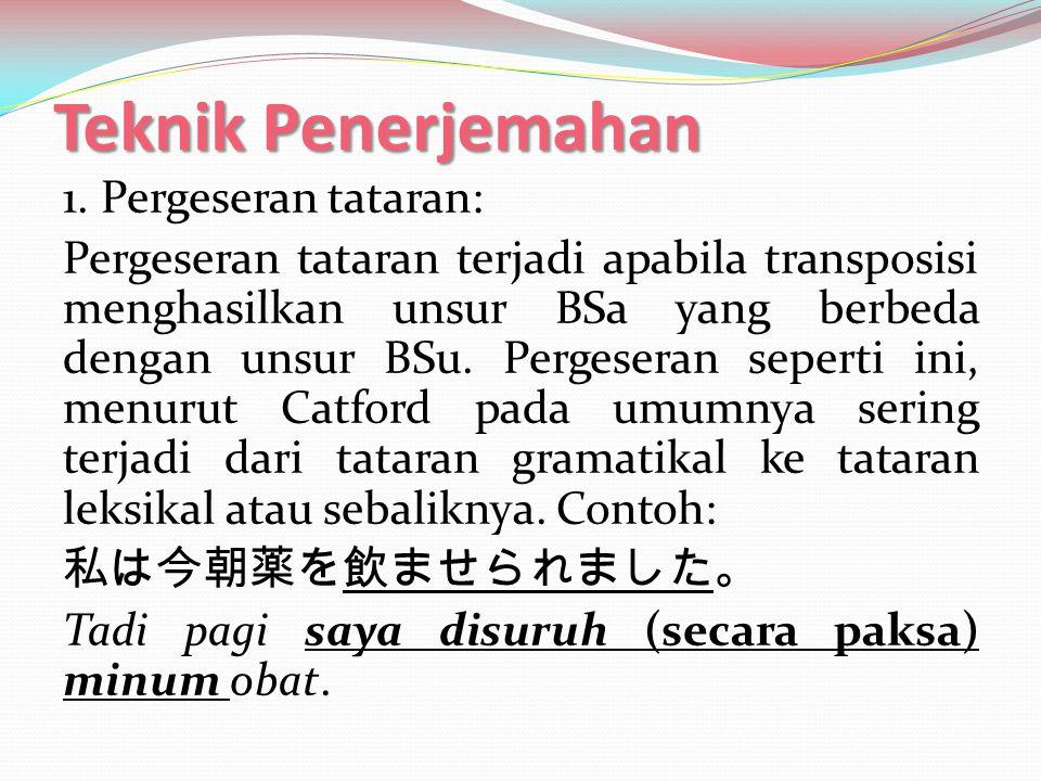 Teknik Penerjemahan 2.