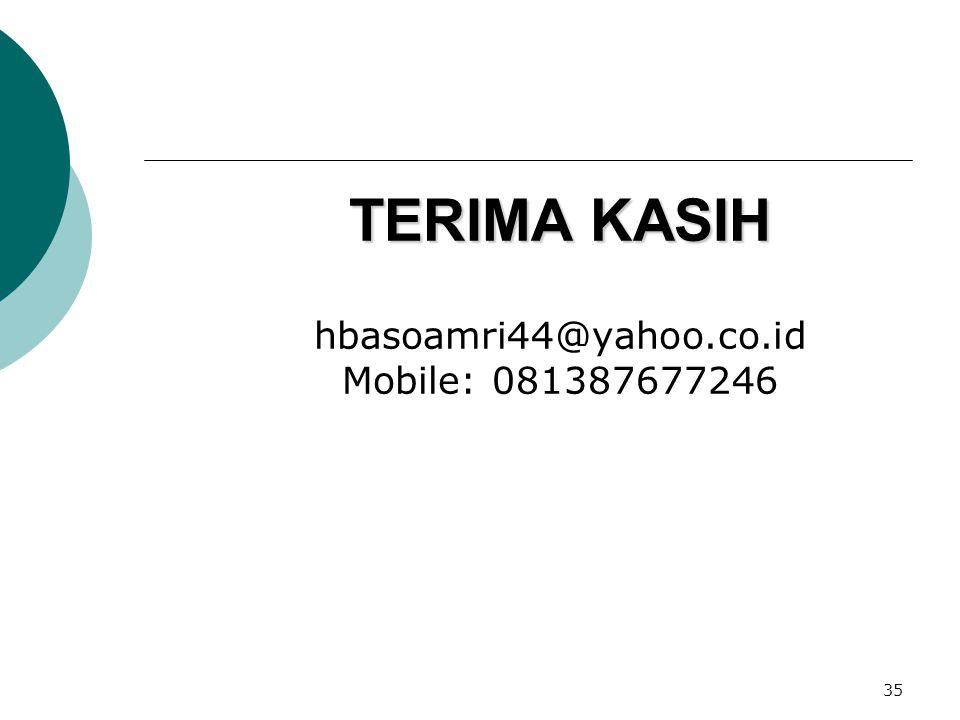 35 TERIMA KASIH TERIMA KASIH hbasoamri44@yahoo.co.id Mobile: 081387677246