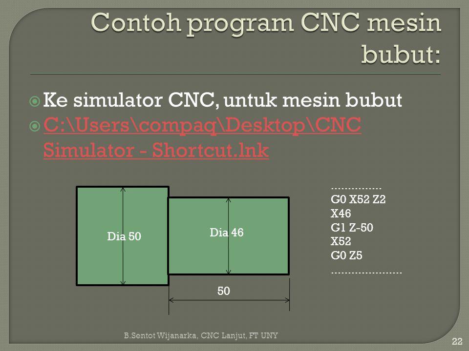  Ke simulator CNC, untuk mesin bubut  C:\Users\compaq\Desktop\CNC Simulator - Shortcut.lnk C:\Users\compaq\Desktop\CNC Simulator - Shortcut.lnk Dia
