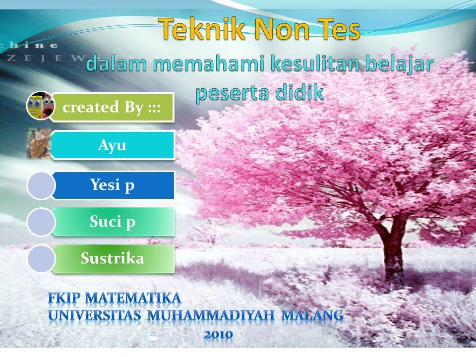 created By ::: Ayu Yesi p Suci p Sustrika