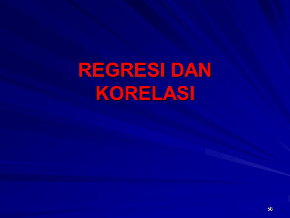 58 REGRESI DAN KORELASI