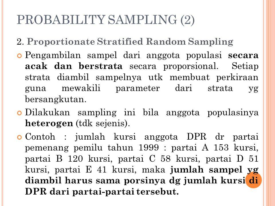 PROBABILITY SAMPLING (2) 2.