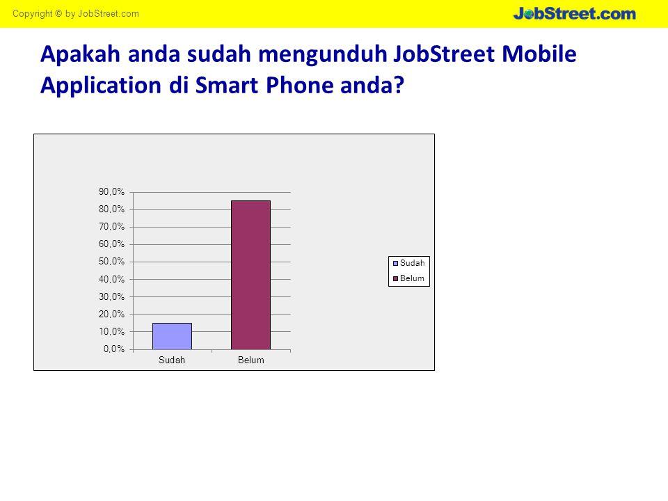 Copyright © by JobStreet.com Apakah anda sudah mengunduh JobStreet Mobile Application di Smart Phone anda?