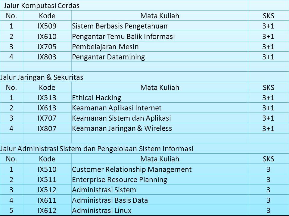 Kurikulum Program Kompetensi S1 Sistem Informasi 2009