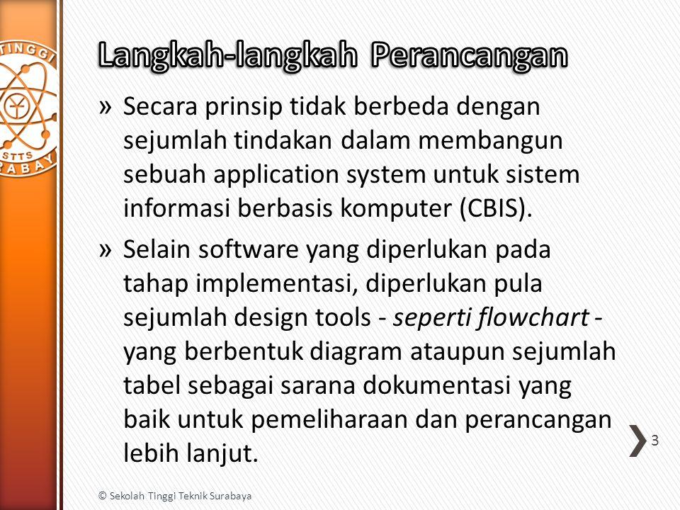 » Secara prinsip tidak berbeda dengan sejumlah tindakan dalam membangun sebuah application system untuk sistem informasi berbasis komputer (CBIS). » S