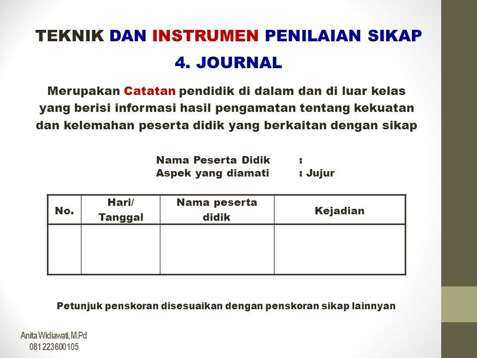 PENGOLAHAN NILAI SIKAP 1.PENGOLAHAN NILAI MASING-MASING ASPEK SIKAP DALAM MATA PELAJARAN HASIL PENILAIAN SIKAP JUJUR • Observasi Guru skor 3,6 • Penilaian Sendiri skor 2,8 • Antarpeserta didik skor 3,0 • Journal Skor 2,4 • Bobot penilaian dari Guru adalah 2 • Bobot penilain siswa adalah 1 SKOR AKHIR = { ( 3,6 X 2 ) + ( 2,8 X 1 ) + ( 3,0 X 1 ) + ( 2,4 X 2 ) } : 6 SKOR AKHIR = 2,96 atau B Kriteria •Apabila skor diperoleh : < 2,40 maka nilai Kurang (K) •Apabila skor diperoleh : 2,40 – 2,79 maka nilai Cukup (C) •Apabila skor diperoleh : 2,80 – 3,19 maka nilai Baik (B) •Apabila skor diperoleh : 3,20 - 4,00 maka nilai Sangat Baik (SB) ASEP