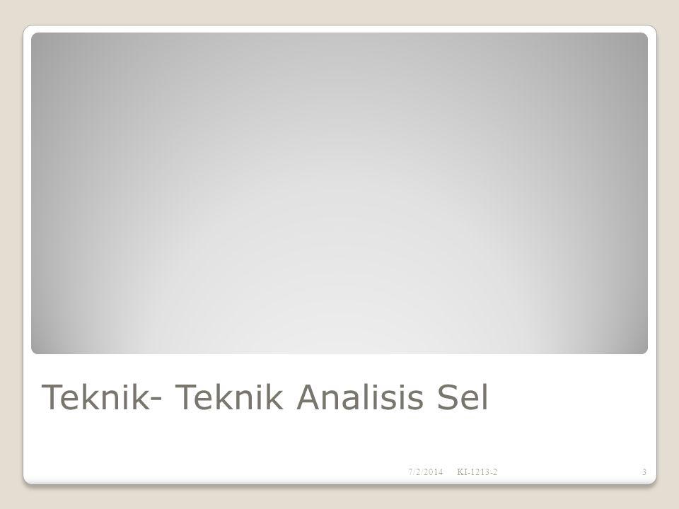 Teknik- Teknik Analisis Sel 7/2/2014KI-1213-23