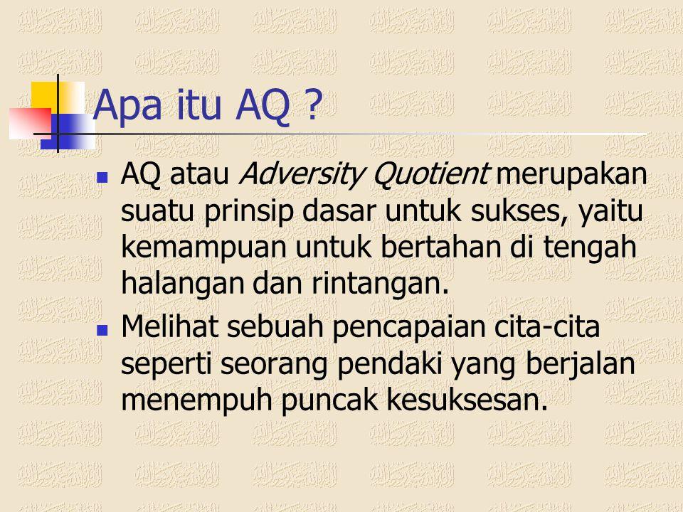 Pendahuluan  Pergeseran makna kecerdasan IQ, Multiple Intelligences, EQ, AQ  Kecerdasan = IQ + EQ*AQ IQ = Intelligence Quotient EQ = Emotional Quoti