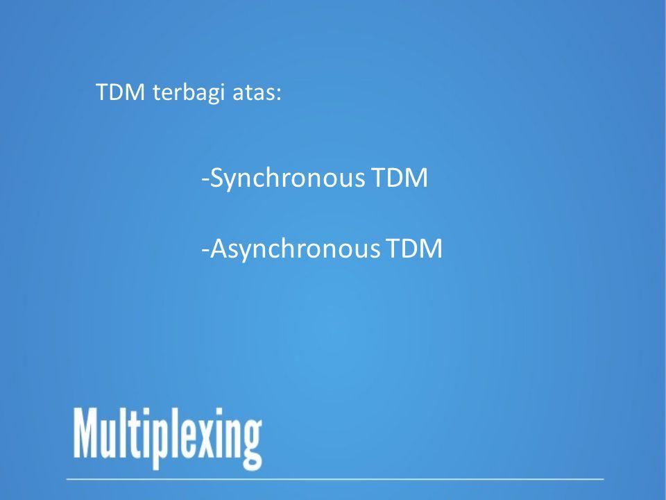 -Synchronous TDM -Asynchronous TDM TDM terbagi atas: