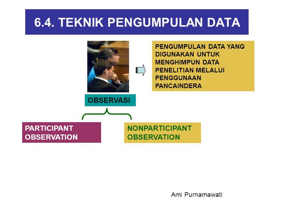 6.4. TEKNIK PENGUMPULAN DATA OBSERVASI PARTICIPANT OBSERVATION NONPARTICIPANT OBSERVATION PENGUMPULAN DATA YANG DIGUNAKAN UNTUK MENGHIMPUN DATA PENELI