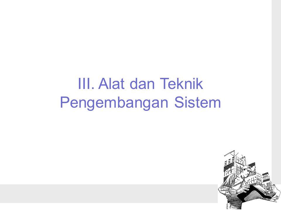 III. Alat dan Teknik Pengembangan Sistem