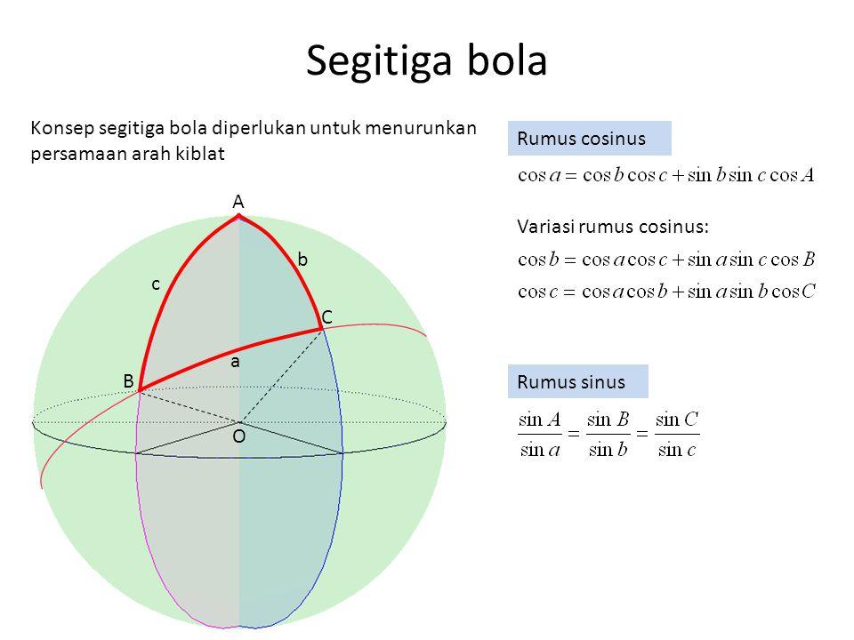Lampiran 4 Landasan teori penentuan arah timur-barat dengan bayangan matahari Apabila panjang bayangan pada waktu  T sebelum tengah hari adalah  P (dengan ujung bayangan tongkat di P1) maka panjang bayangan pada waktu  T sesudah tengah hari adalah juga  P (dengan ujung bayangan tongkat di P2).