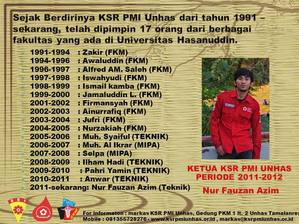  1991-1994 : Zakir (FKM)  1994-1996 : Awaluddin (FKM)  1996-1997 : Alfred AM.
