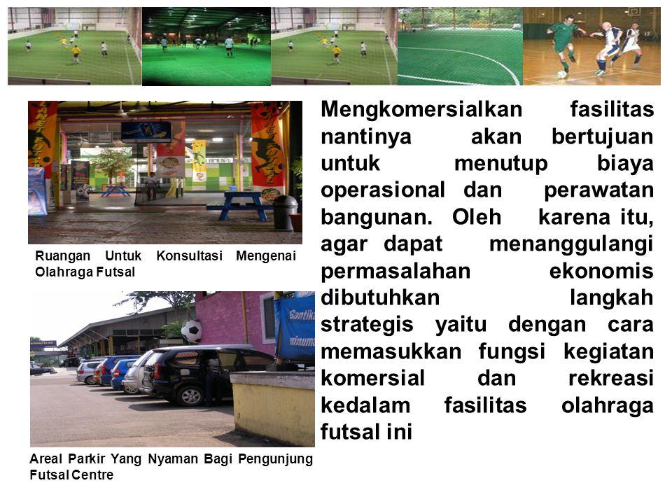 Setiap ada pertandingan futsal yang diadakan nantinya, maka akan banyak pula pengunjung yang datang menyaksikannya.