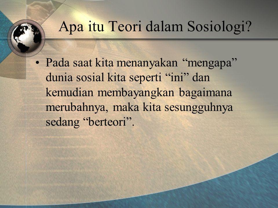 Apa itu Teori dalam Sosiologi.