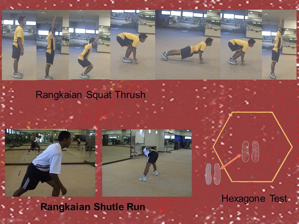 Hexagone Test Rangkaian Squat Thrush Rangkaian Shutle Run