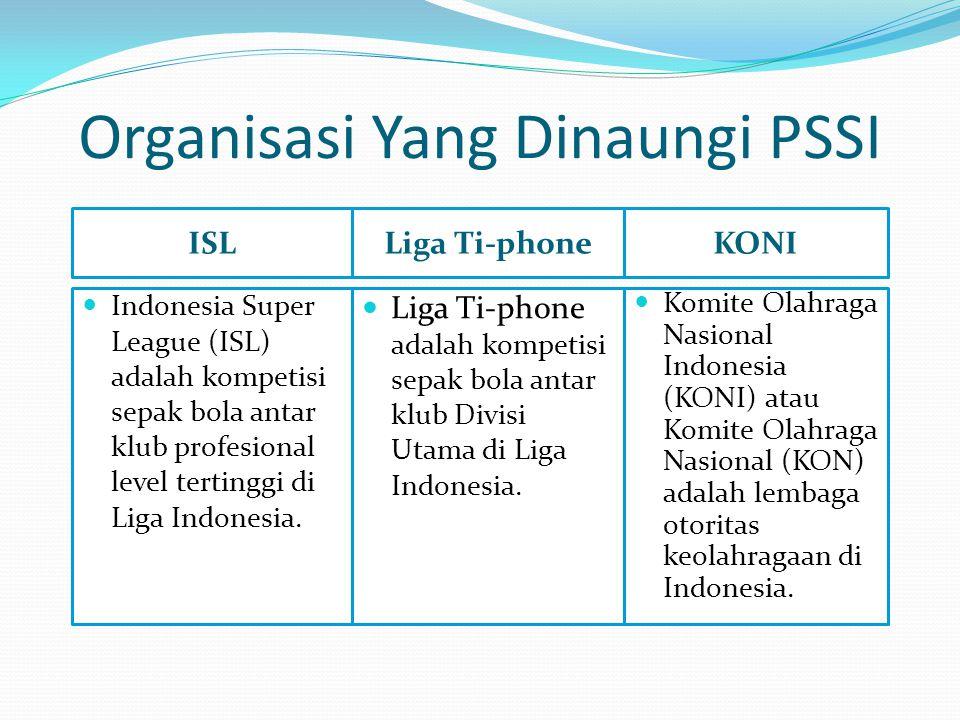 Organisasi Yang Dinaungi PSSI ISL  Indonesia Super League (ISL) adalah kompetisi sepak bola antar klub profesional level tertinggi di Liga Indonesia.