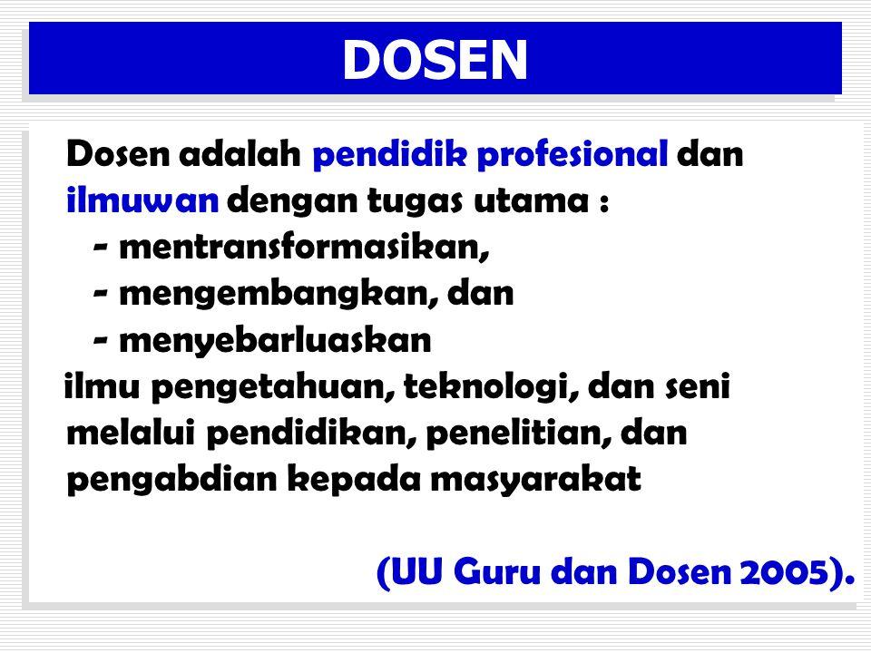 DOSEN • Jenjang jabatan akademik Dosen tetap terdiri atas Asisten Ahli, Lekto, Lektor Kepala, dan Profesor.