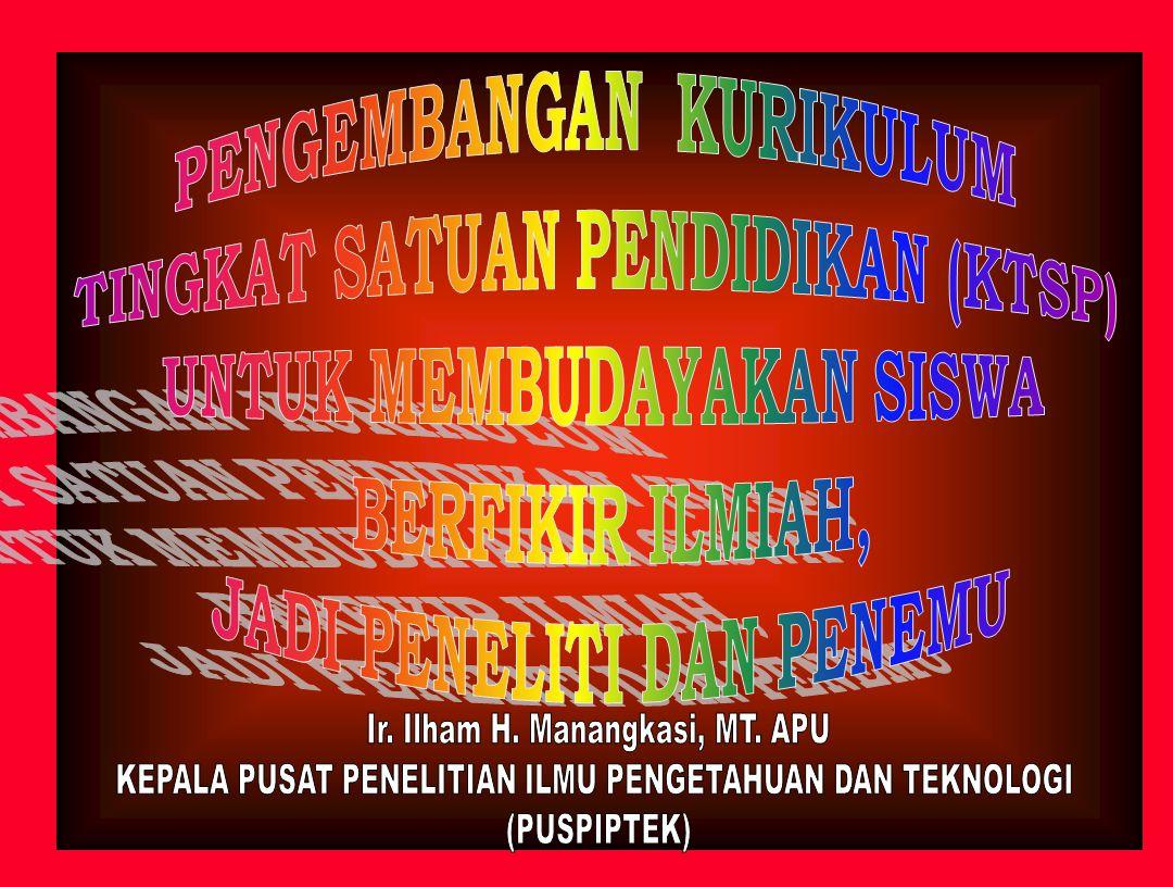 PENDAHULUAN HARAPAN MASA DEPAN BANGSA INDONESIA: - MEMPUNYAI GENERASI MUDA YANG MAMPU MENGHADAPI TANTANGAN, BERAKHLAK MULIA, MANDIRI, KREATIF, INOVATIF DAN PRODUKTIF.