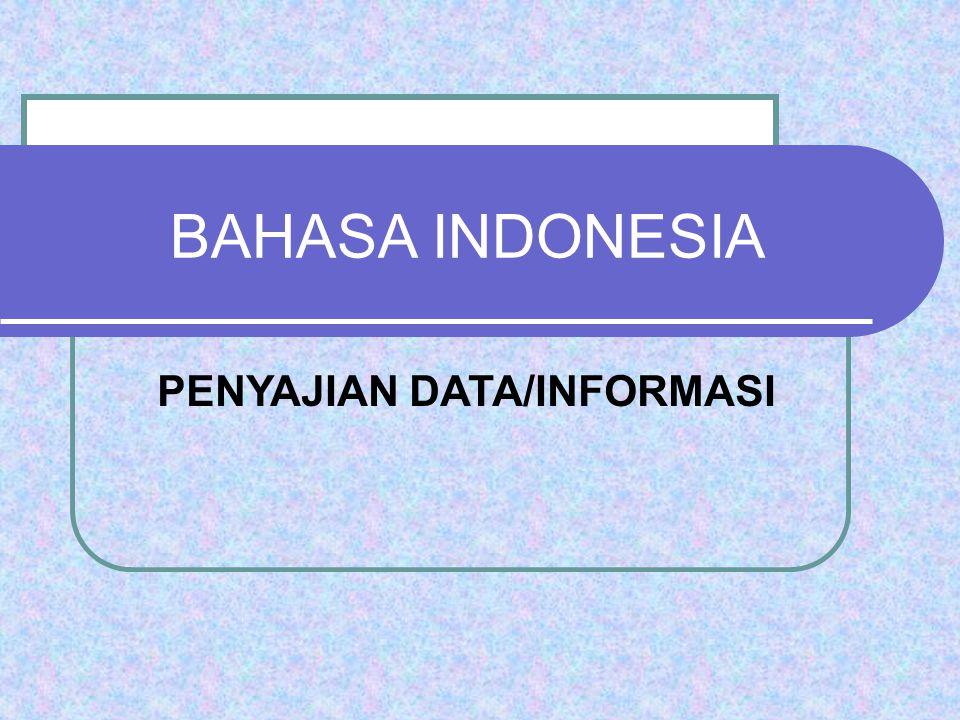 BAHASA INDONESIA PENYAJIAN DATA/INFORMASI