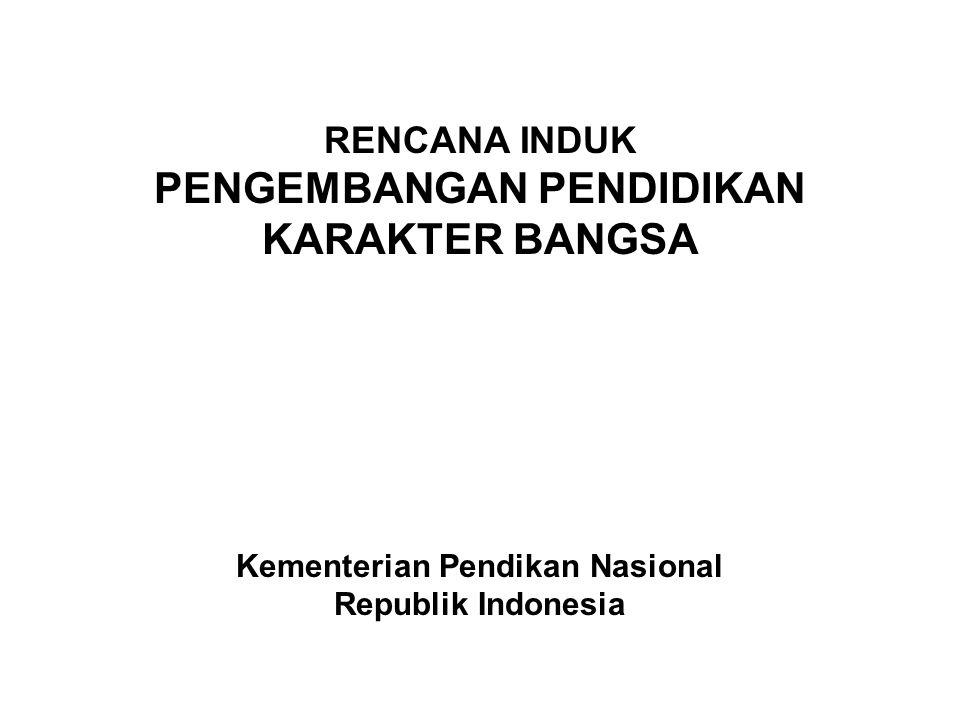 RENCANA INDUK PENGEMBANGAN PENDIDIKAN KARAKTER BANGSA Kementerian Pendikan Nasional Republik Indonesia