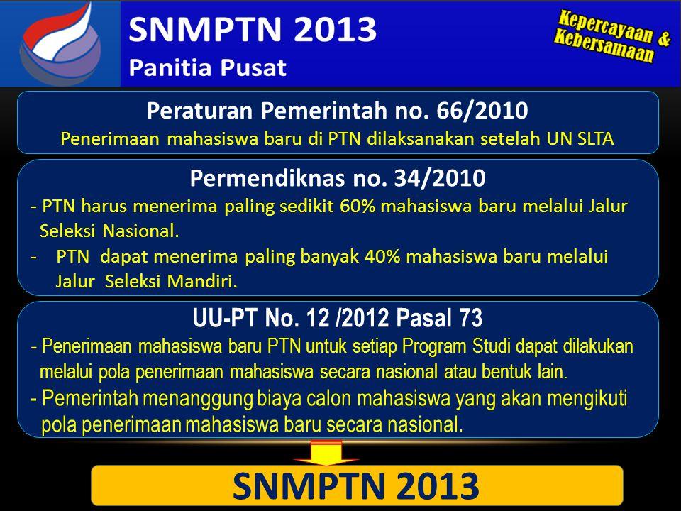 1.Membangun kebersamaan dan kepercayaan dengan sekolah dan antar PTN di seluruh Indonesia.