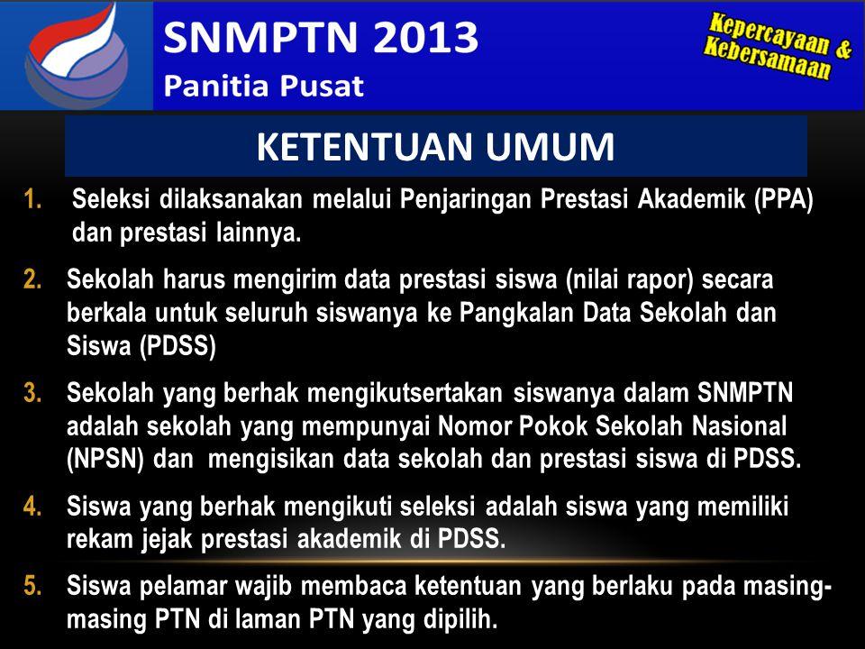 3.Kepala Sekolah harus memberi rekomendasi kepada siswa yang sudah mendaftar SNMPTN.