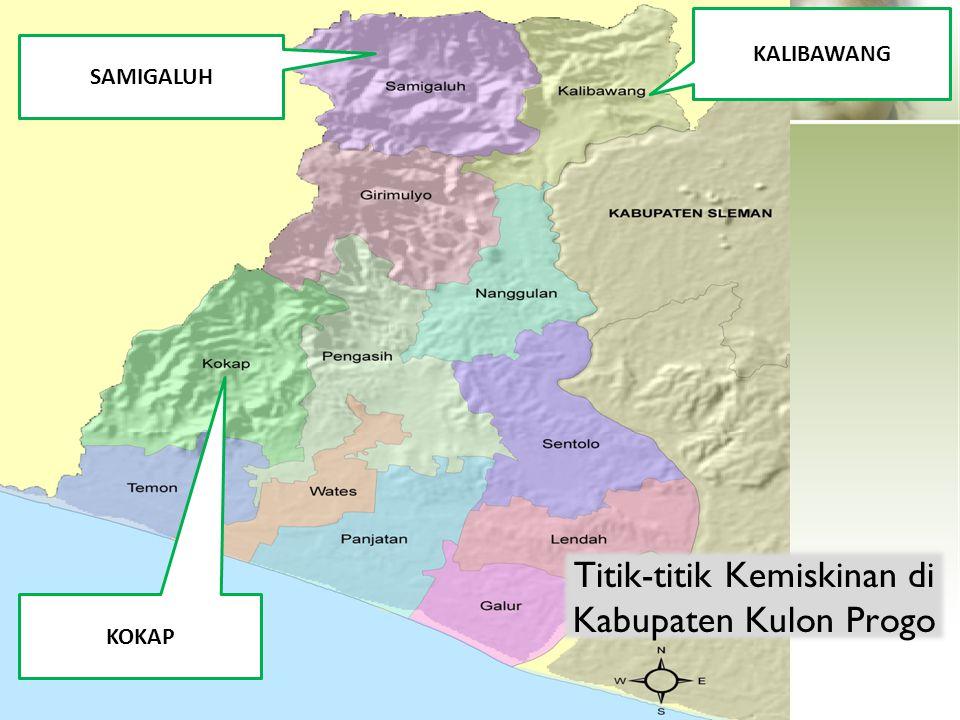 KOKAP KALIBAWANG SAMIGALUH Titik-titik Kemiskinan di Kabupaten Kulon Progo