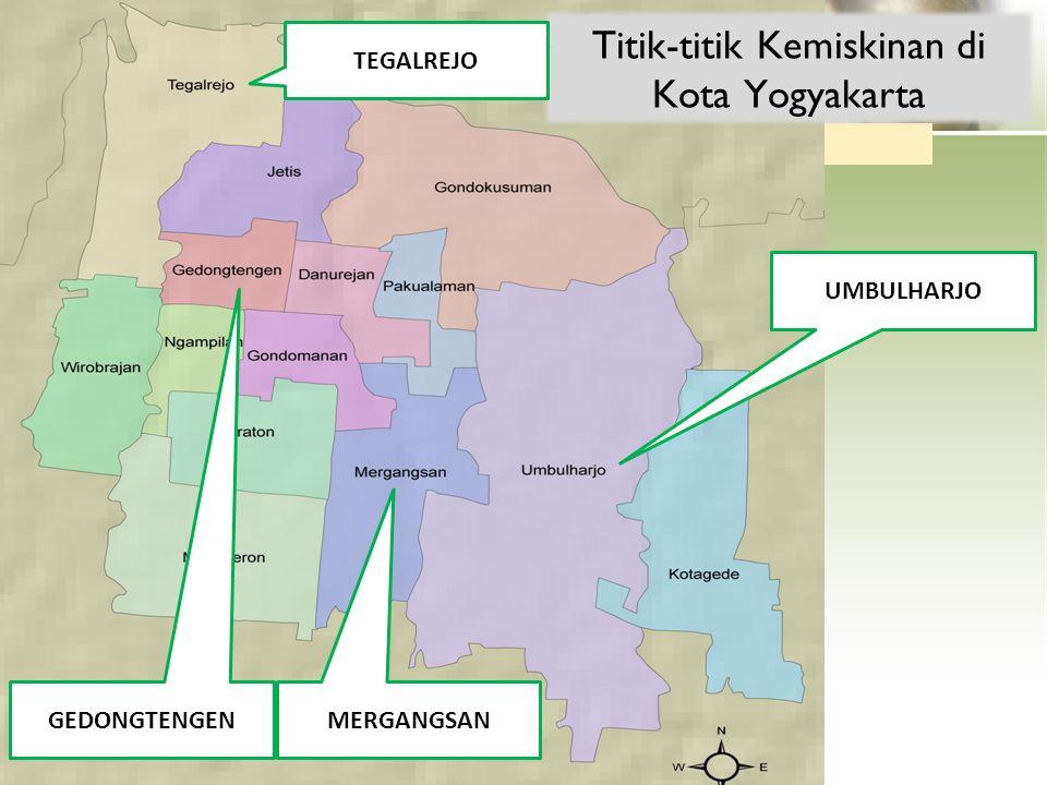 Titik-titik Kemiskinan di Kota Yogyakarta UMBULHARJO MERGANGSAN GEDONGTENGEN TEGALREJO