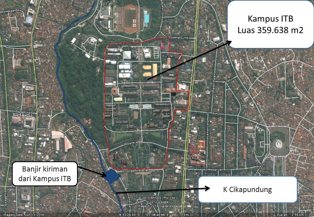 Kampus ITB Luas 359.638 m2 Banjir kiriman dari Kampus ITB K Cikapundung