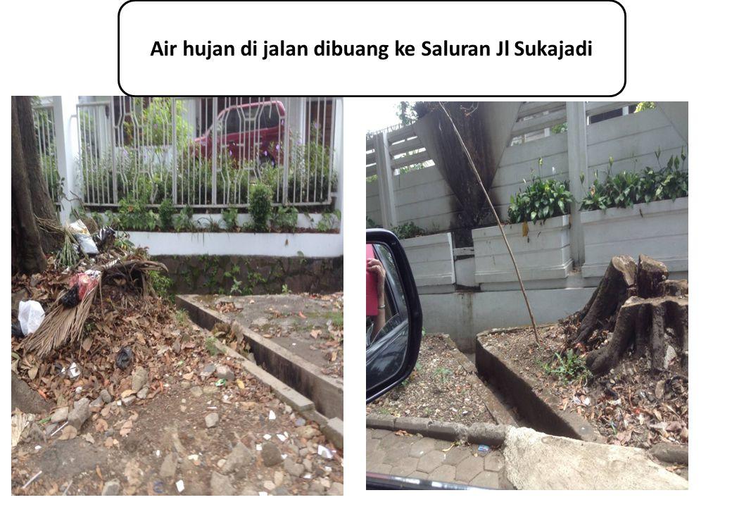 Air hujan di jalan dibuang ke Saluran Jl Sukajadi
