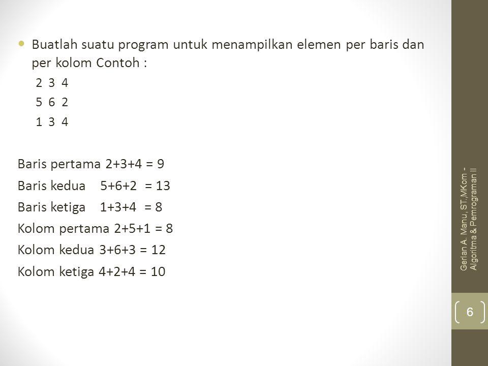 Buatlah program untuk menghitung nilai huruf suatu mahasiswa dengan tabel sebagai brkt : Mahasiswa 1Mahasiswa 2Mahasiswa 3…Mahasiswa N MataKuliah 1 MataKuliah 2 MataKuliah 3 … Mata Kuliah 4 Gerlan A.
