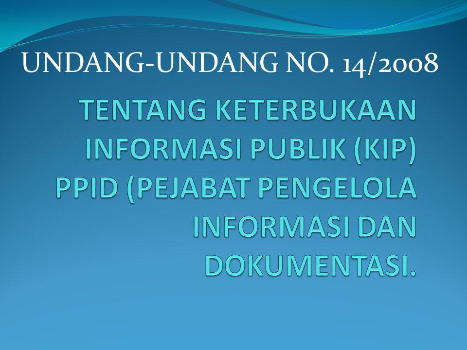 UNDANG-UNDANG NO. 14/2008