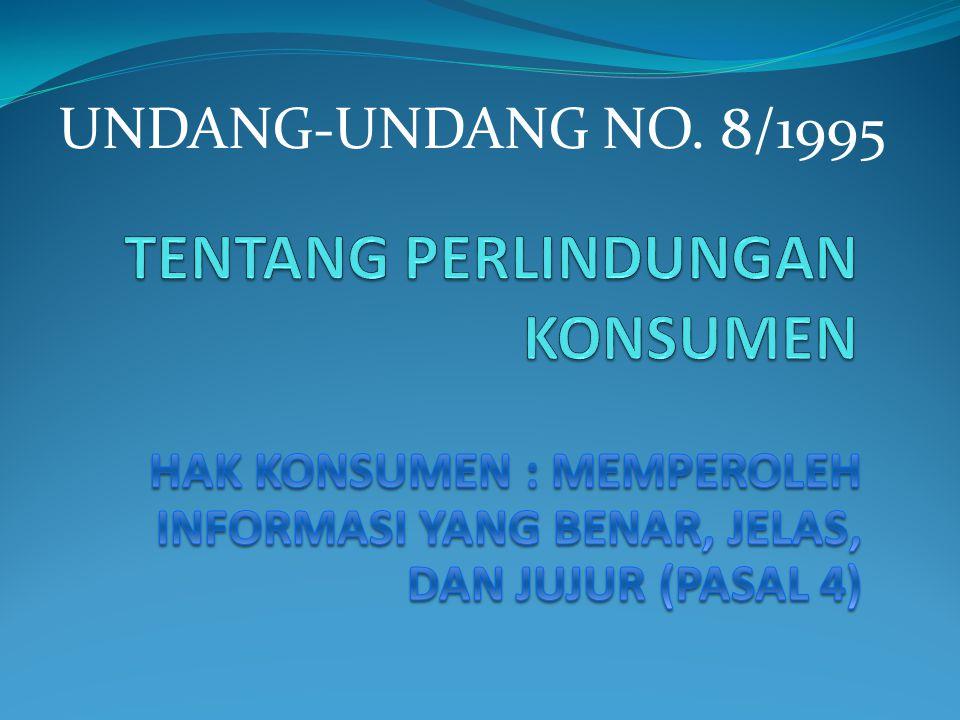 UNDANG-UNDANG NO. 8/1995