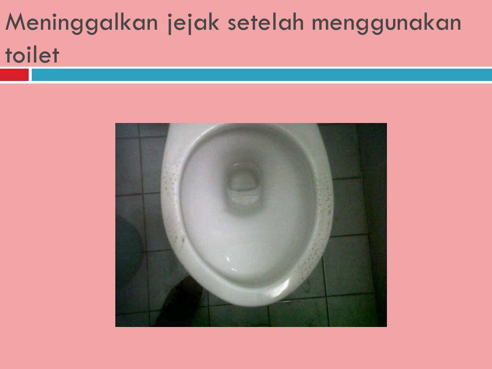 Membaca Majalah/Surat Kabar di toilet