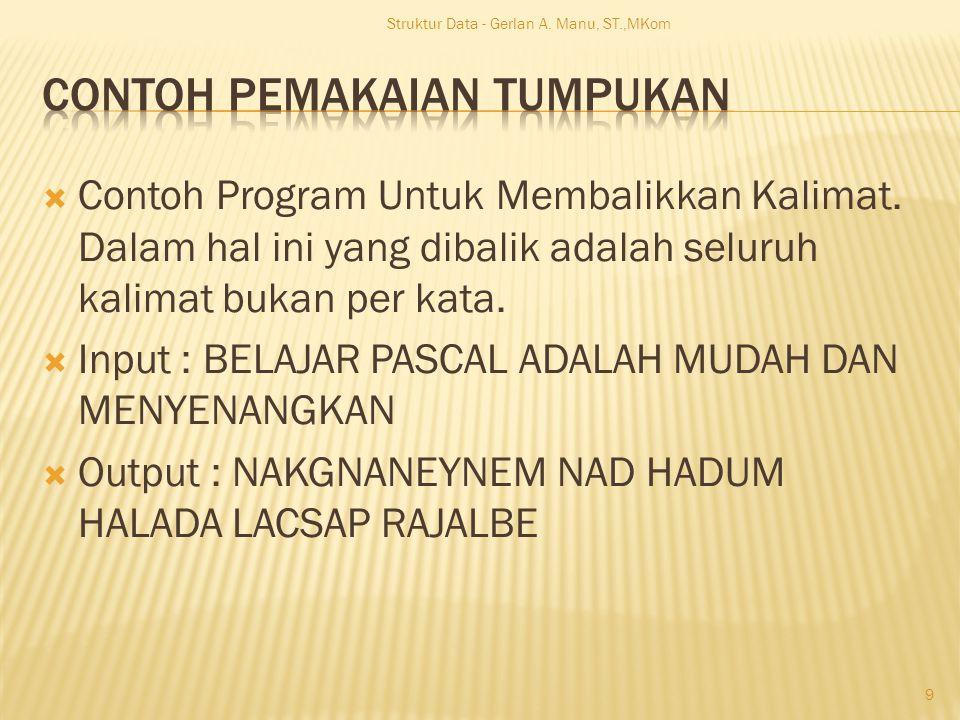  Contoh Program Untuk Membalikkan Kalimat.