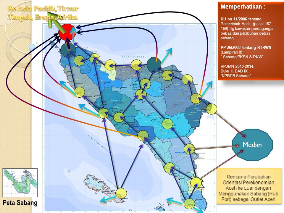 Rencana Perubahan Orientasi Perekonomian Aceh ke Luar dengan Menggunakan Sabang (Hub Port) sebagai Outlet Aceh Medan Memperhatikan : UU no 11/2006 ten